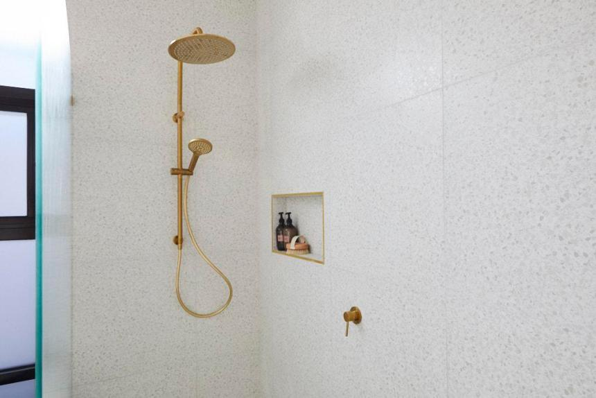 Gold Shower Rail