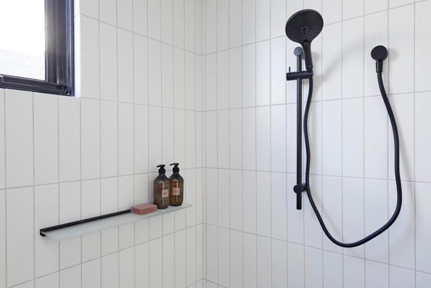 black shower