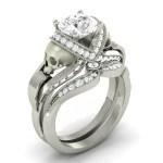 White Diamond Skull Ring