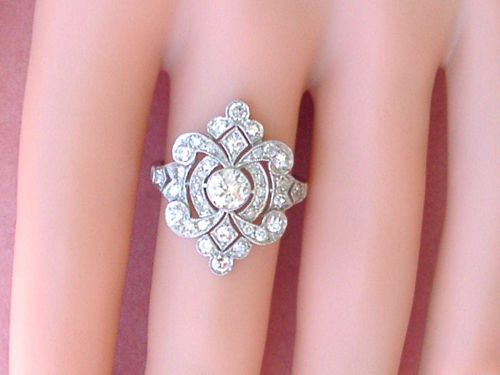 Vintage Art Deco Rings – Diamond Loops
