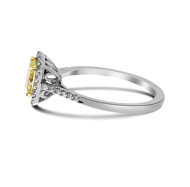 princess canary yellow diamond wedding engagement ring - Yellow Diamond Wedding Ring