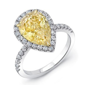 5.42 Ctw CUSHION CUT Yellow Halo Diamond Party Engagement Ring (Copy)