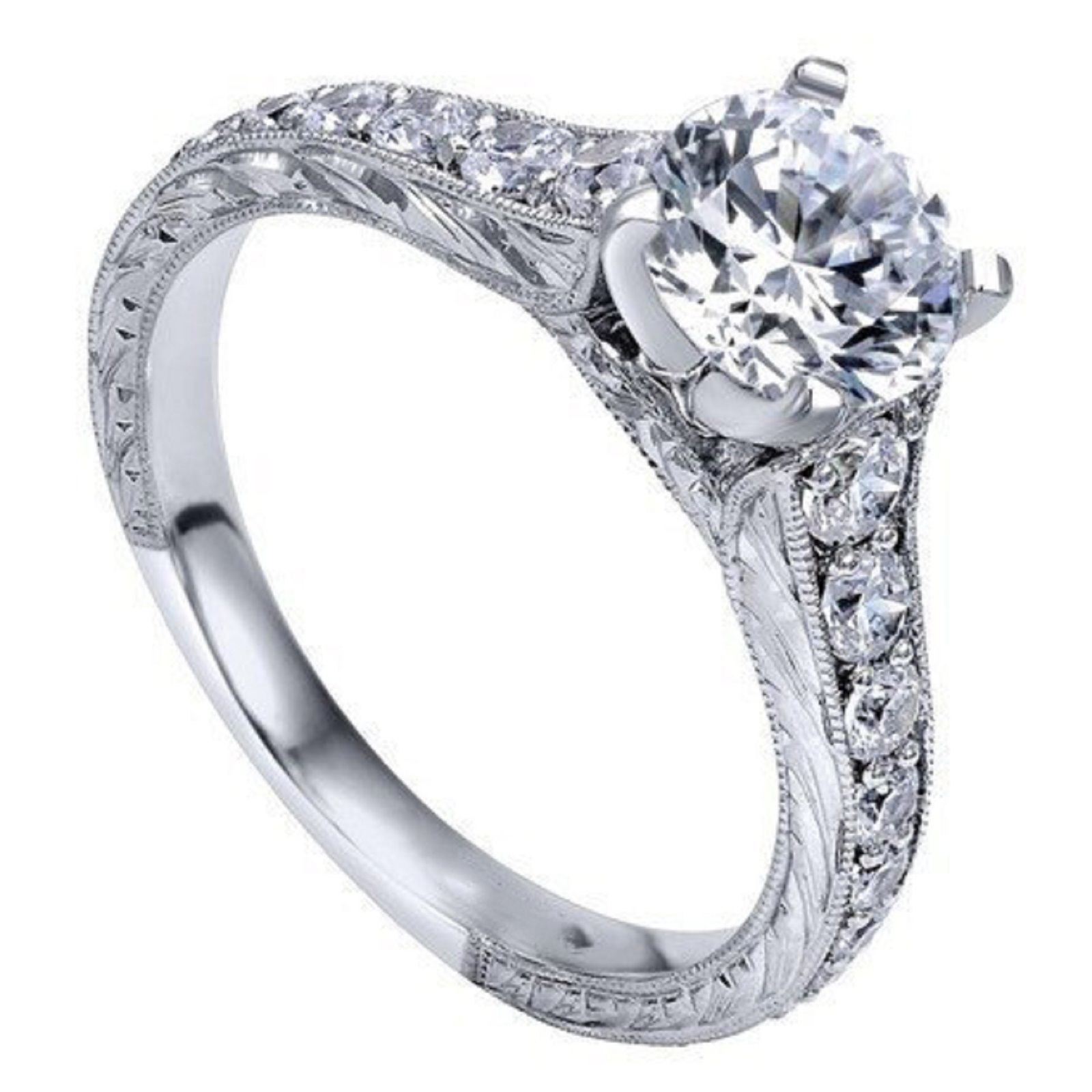 1.87Ct Brilliant Cut Moissanite Engagement Wedding Ring Sets 925 Sterling Silver