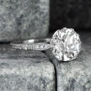 Antique 1.81Ct Vintage Style Round Diamond Solitaire Engagement Ring 925 Sterling Silver