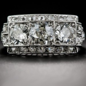 2.78Ct Brilliant Round Cut Diamond Art Deco Engagement Ring 14k White Gold Over