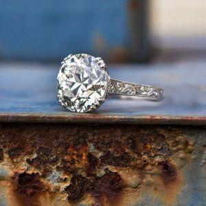 3.00 Ctw Round Cut Moissanite Vintage Wedding & Engagement Ring 14k White Gold