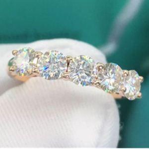 Unique 5-Stone 2.Ctw Round Moissanite Luxury Wedding Engagement Ring 14k Rose Gold