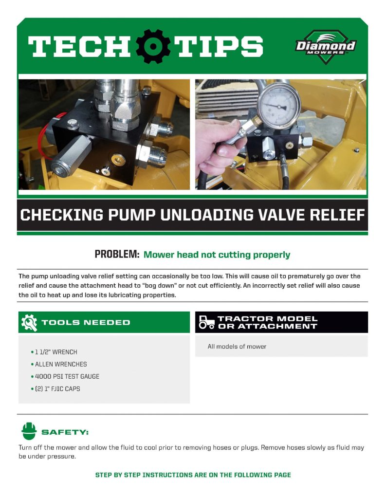 Tech Tips for Checking Pump Unloading Valve Relief