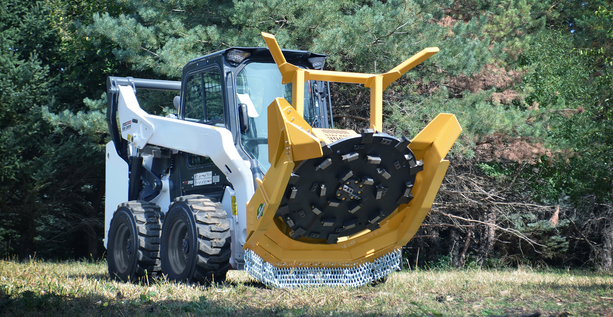 "Skid-Steer 48"" Forestry Disc Mulcher"