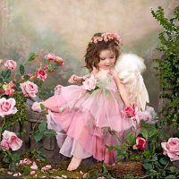 Little Rose Girl Diamond Painting Kit