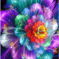 Neon Flowers Diamond Painting Kit