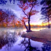 Autumn Lake Reflection Diamond Painting Kit