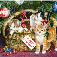 Celebration Cats Diamond Painting Kit