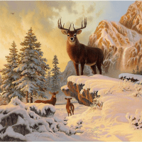 Mountain Buck Diamond Painting Kit