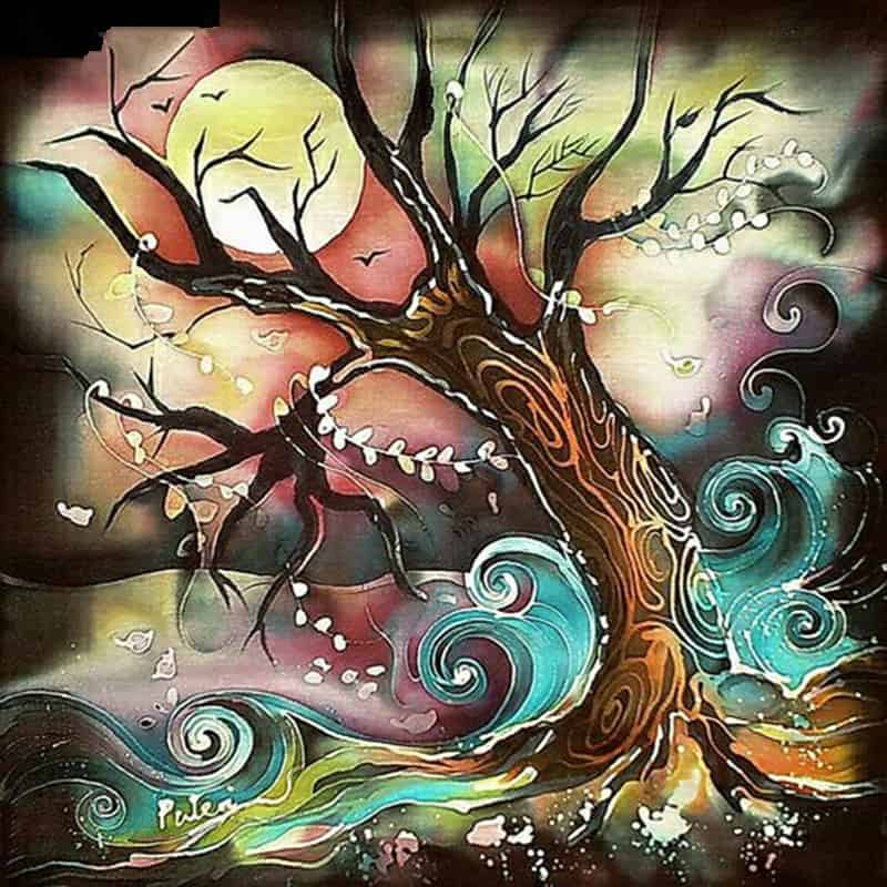 Night Tree Diamond Painting Kit At DiamondPaintingKits.com