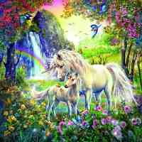 Unicorn and Rainbows Diamond Painting Kit