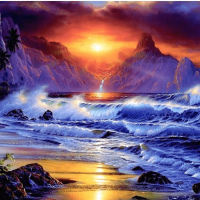 Crashing Waves Diamond Painting Kit