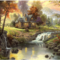 Forest Cabin Diamond Painting Kit