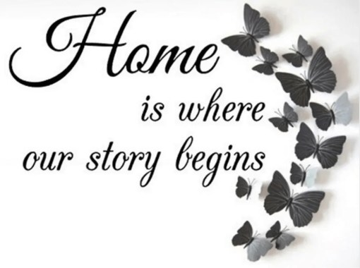 Diamond Painting - Home is where our Story begins - 30x25 cm - FULL - Volledig