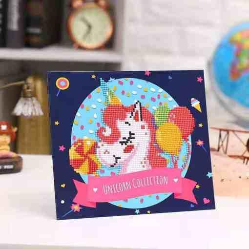 Diamond Painting Pakket voor kinderen - Eenhoorntje - 21x25 cm - SEOS Shop ®