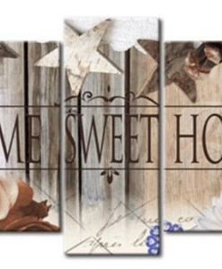Diamond Painting Pakket Home Sweet Home (Hout Look) - 5 Luik