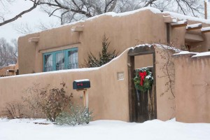 Santa Fe Home with Wreath