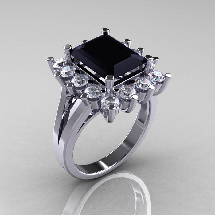Charm Her With A Champagne Diamond Engagement Ring Black