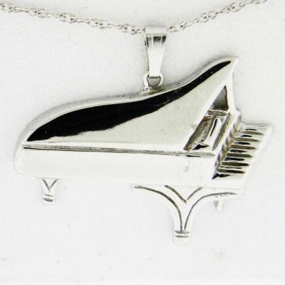 White Gold Grand Piano Pendant
