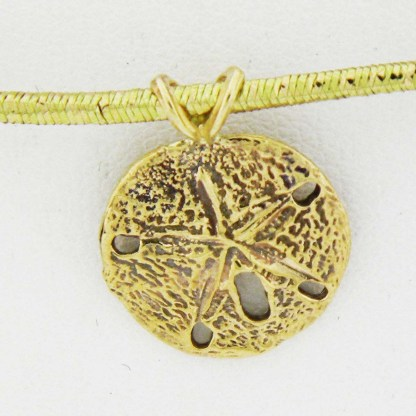 Yellow Gold Sand Dollar Pendant