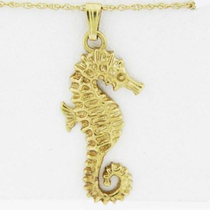 Yellow Gold Seahorse Pendant