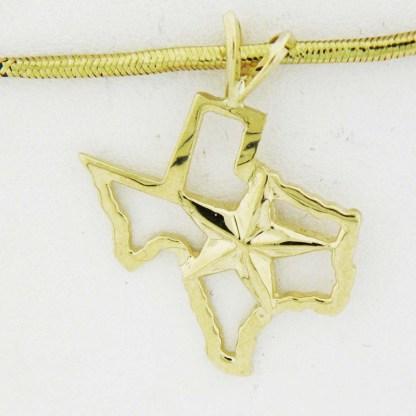 Yellow Gold Texas Star Custom Pendant