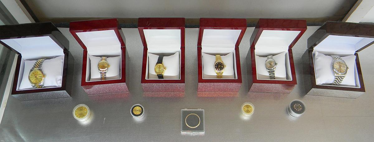 Rolex watch case at Diamonds N' Designs
