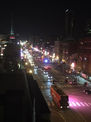 Broadway all lit up