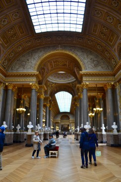 """This is the """"war"""" room, where paintings of France's different battles and wars as well as busts of its various military leaders are showcased."""