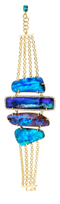 Irene Neuwirth mixed boulder opal bracelet. Via Diamonds in the Library.