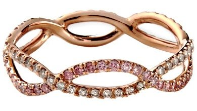 Pink diamond and champagne diamond ring by Monique Pean. Via Diamonds in the Library.