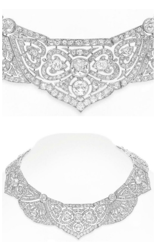 A lovely Belle Epoque diamond necklace. Via Diamonds in the Library.