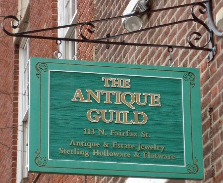 The Antique Guild in Old Town Alexandria, VA.