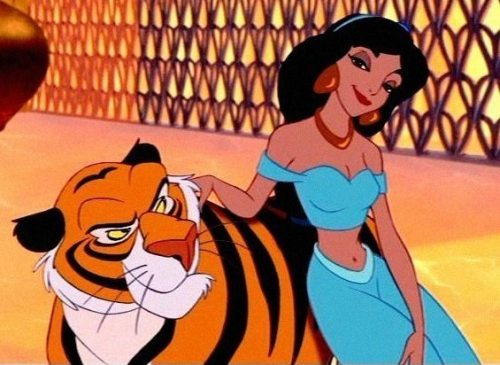 Princess Jasmine with her tiger