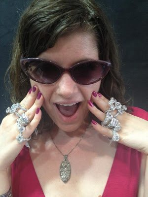 Becky decked out in Tacori diamonds.