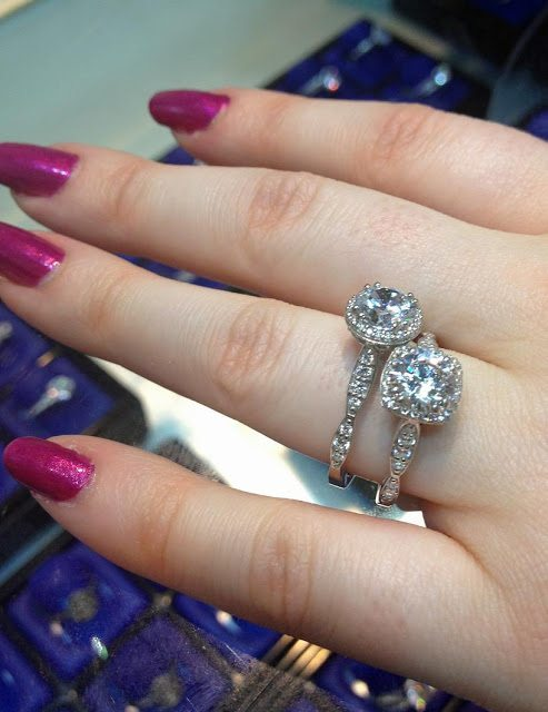 Two stunning diamond engagement rings by Tacori. Via Diamonds in the Library.