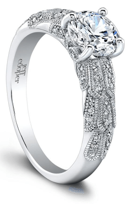 The Annelise diamond engagement ring by Jeff Cooper. Via Diamonds in the Library.