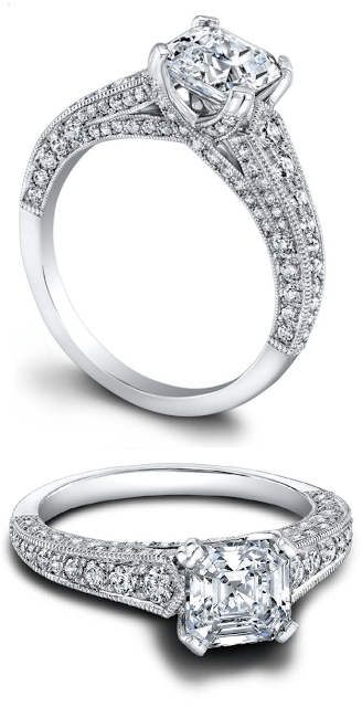 The Hazelle diamond engagement ring by Jeff Cooper. Via Diamonds in the Library.