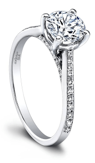 The stunning Therese diamond engagement ring by Jeff Cooper. Via Diamonds in the Library.