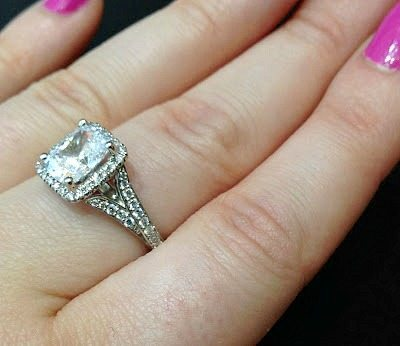 A beautiful diamond engagement ring by Sasha Primak. This design features a split shank and a diamond halo. Via Diamonds in the Library.