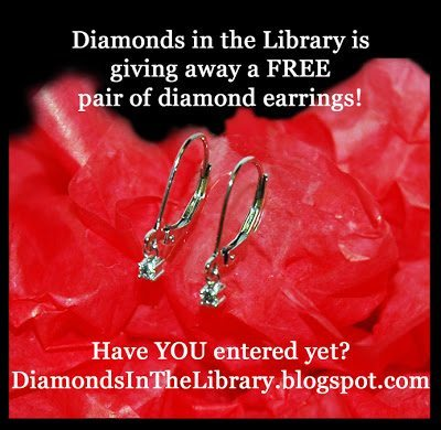 Diamonds in the Library is giving away a free pair of diamond earrings! Click through for details.