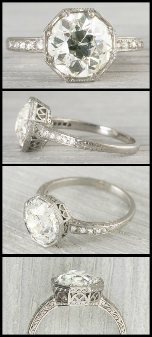 Wedding Ring With Names 94 Cute  carat antique Art