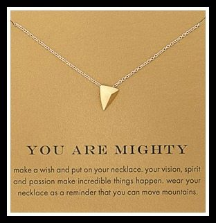 Dogeared 'Reminder - You Are Mighty' Boxed Pyramid Pendant Necklace. Via Diamonds in the Library's jewelry gift guide.