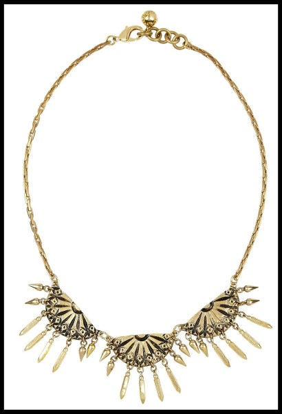 Lulu Frost Letizia antiqued gold-tone necklace. Via Diamonds in the Library's jewelry gift guide.