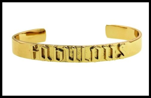 "Jennifer Fisher's ""Fabulous"" cuff bracelet in gold. Via Diamonds in the Library."